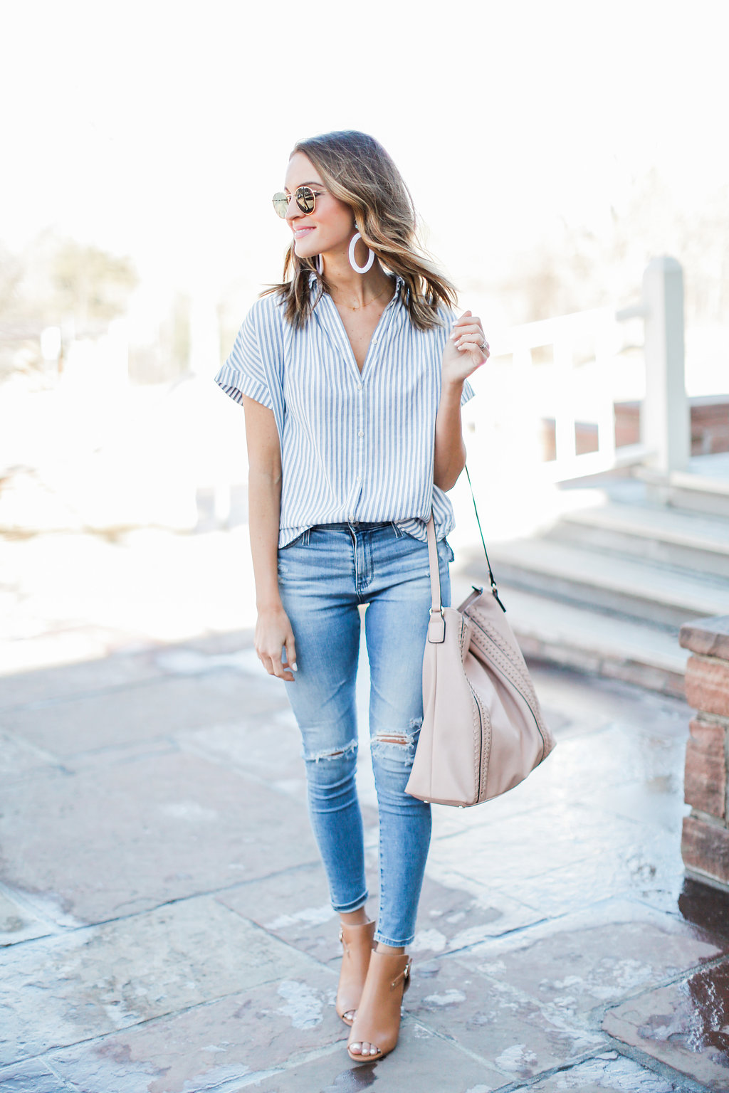 lauren sims spring transitional outfit