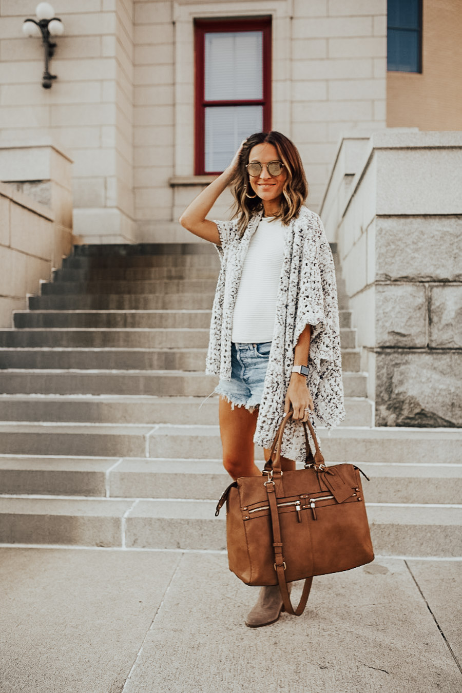 lauren sims leather weekender bag