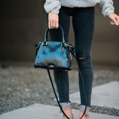 perfect black crossbody bag for fall
