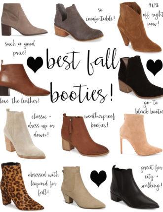 fall booties: my top picks!
