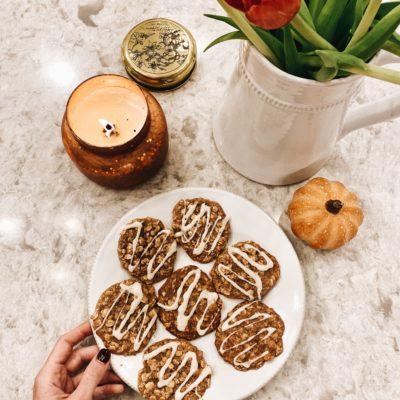 fall favorites + apple cinnamon oatmeal cookie recipe