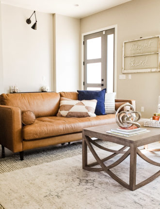 living room reveal + article sofa review