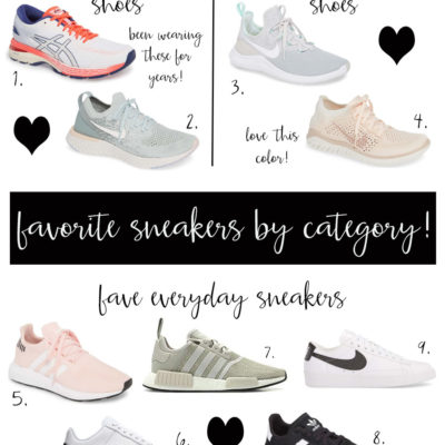 fave sneakers by category including best running shoe!