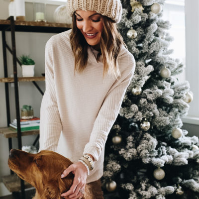 cozy winter neutrals + a great stocking stuffer idea!
