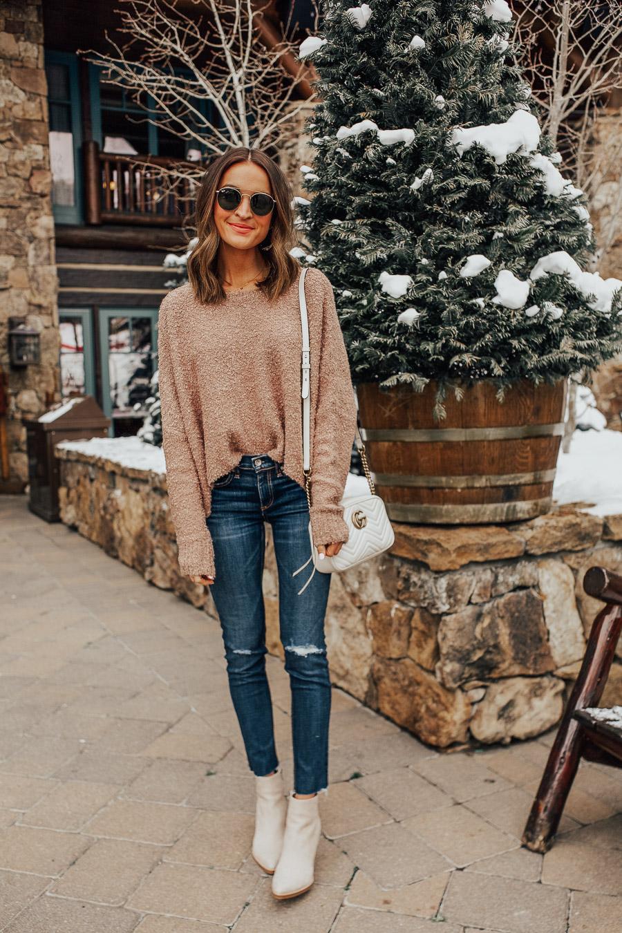 lauren sims dark distressed skinny jeans