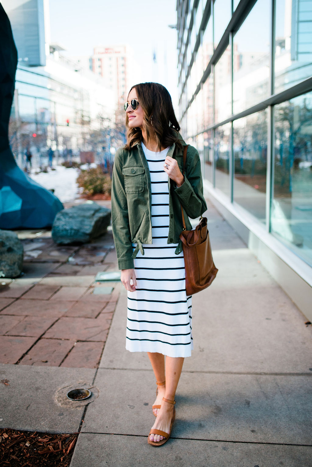 lauren sims banana republic striped dress