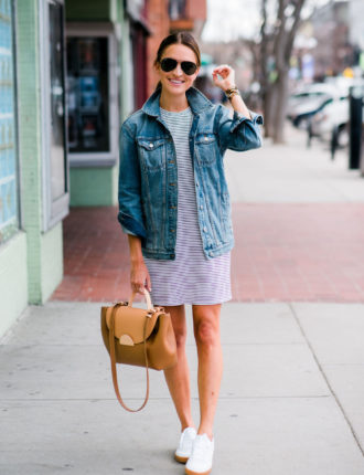 my obsession with the t-shirt dress + sneakers look