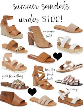 summer sandals under $100!