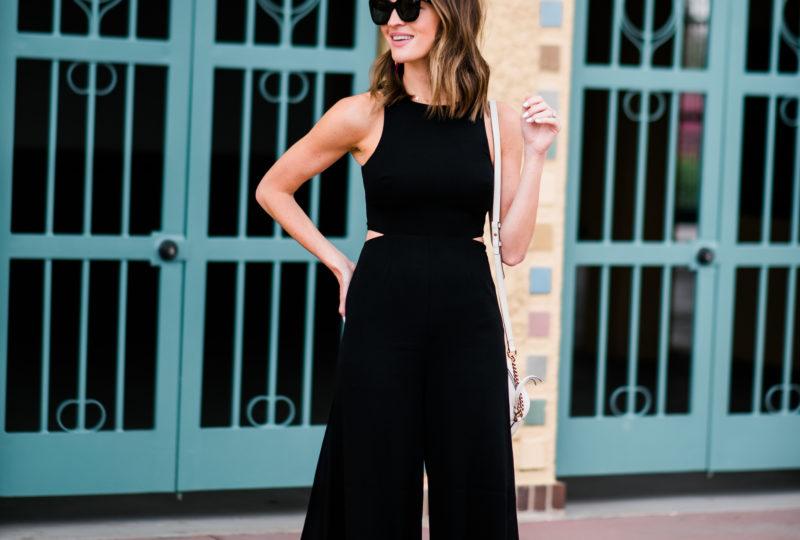 classy little black jumpsuit