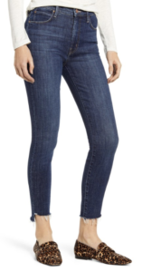 nordstrom anniversary sale 2019 mother jeans high waist ankle blue jeans