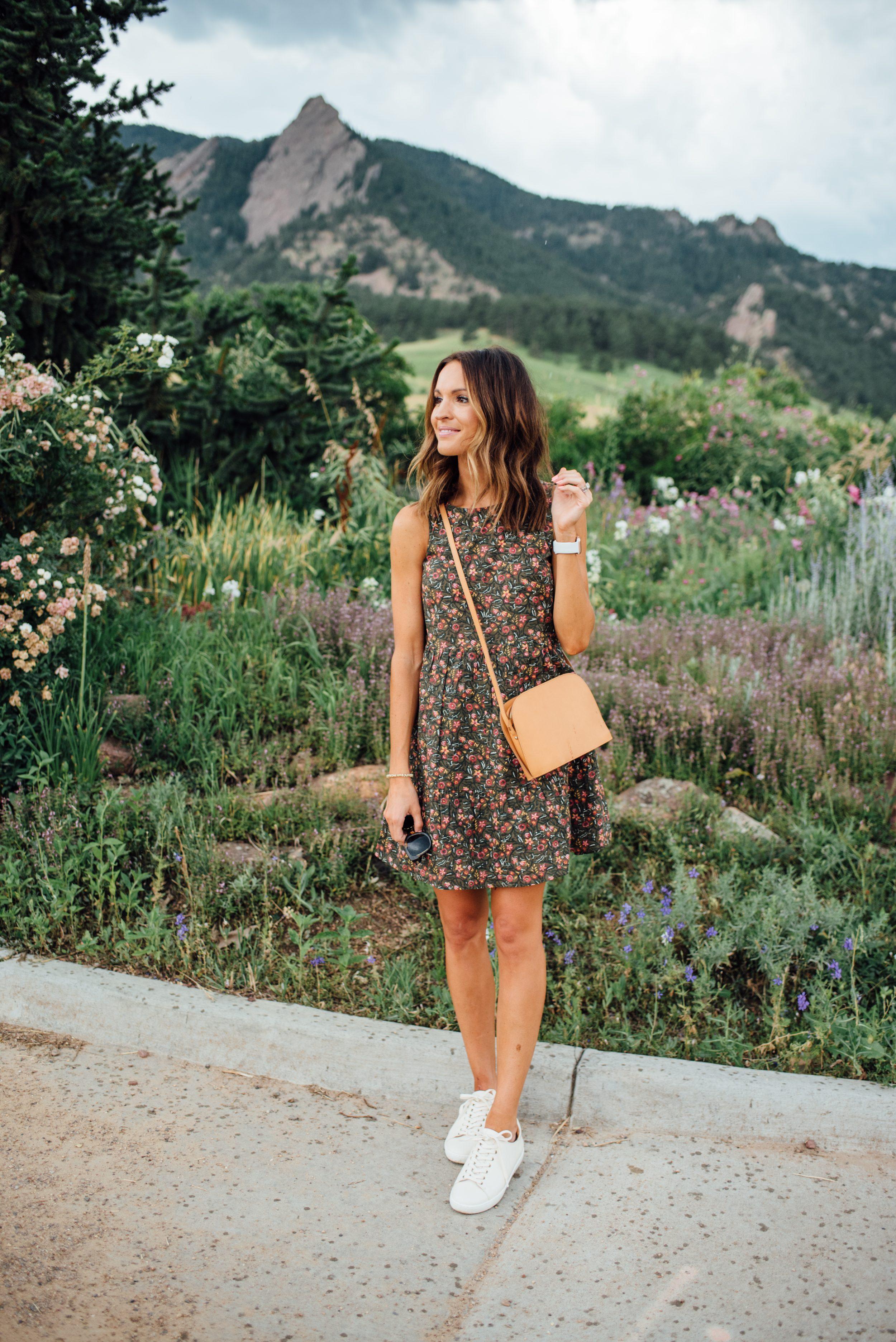 lauren sims floral fall dress