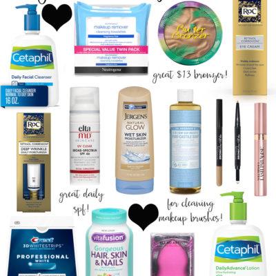 drugstore beauty essentials!